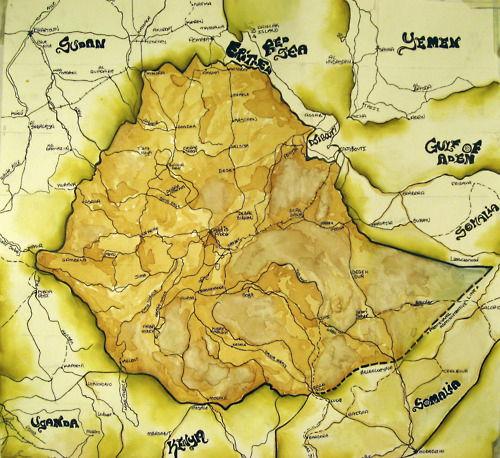 Ethiopia coffee map