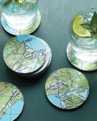 Marthastewart.com: Map coasters