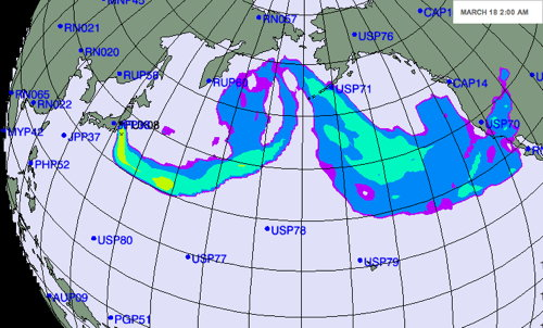 NYT radiation plume map
