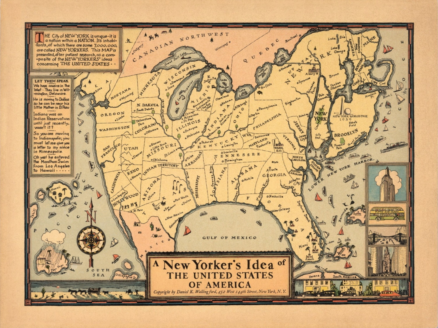 Unusual Maps Page The Map Room - Map ideas for the us