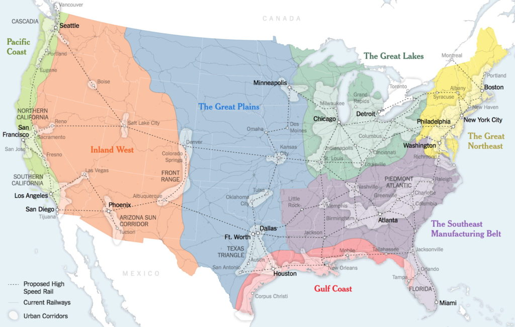 The US As Seven MegaRegions The Map Room - Us megaregions map
