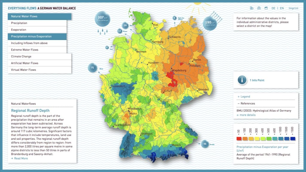 Water Flows In Germany The Map Room - Germany map 2016