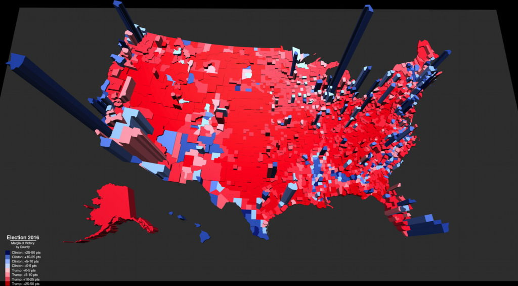 Election Results In The Third Dimension Metrocosm Texas Election - Us election 2016 editable map