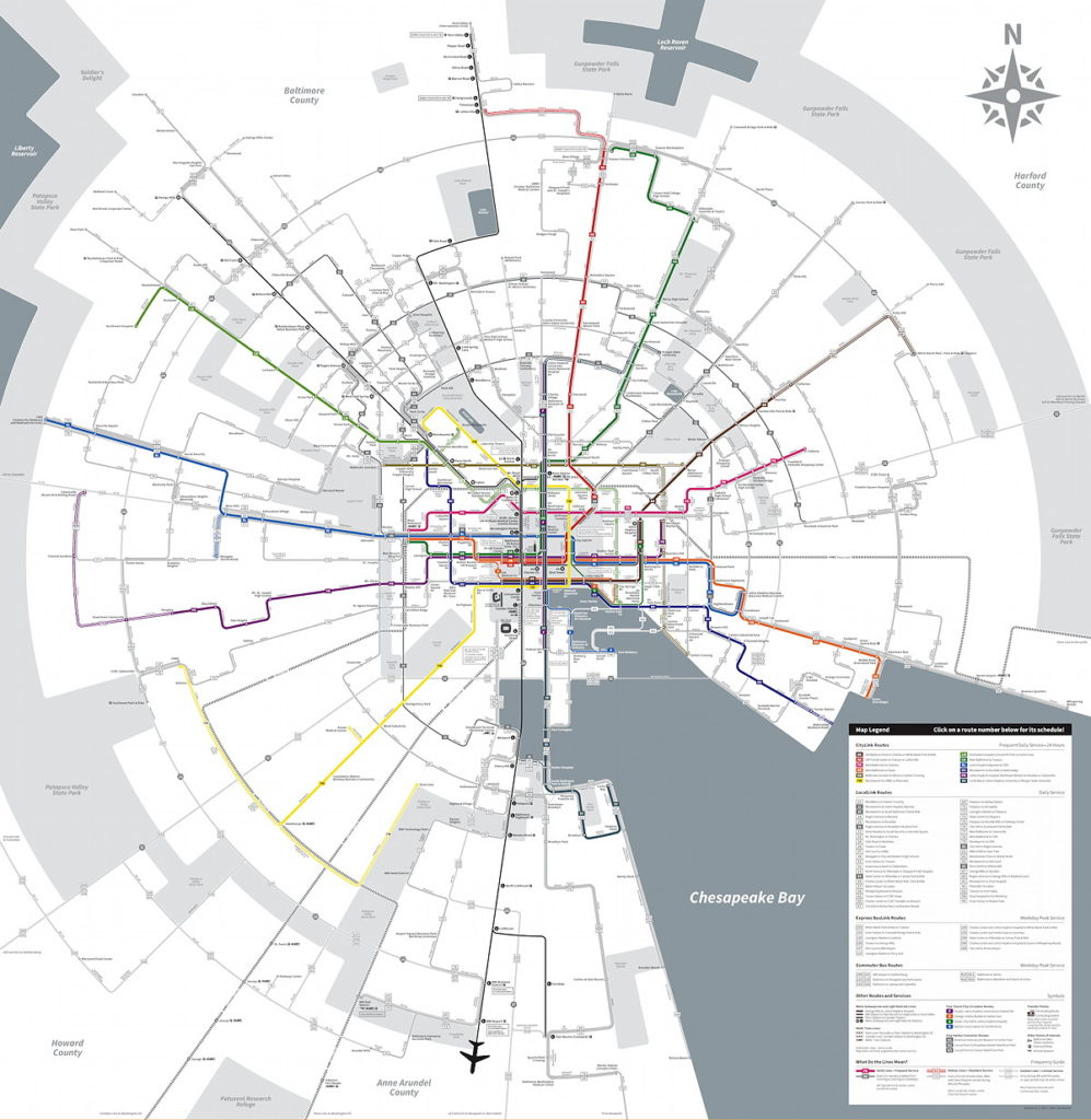 Baltimores Radical New Transit Map  The Map Room