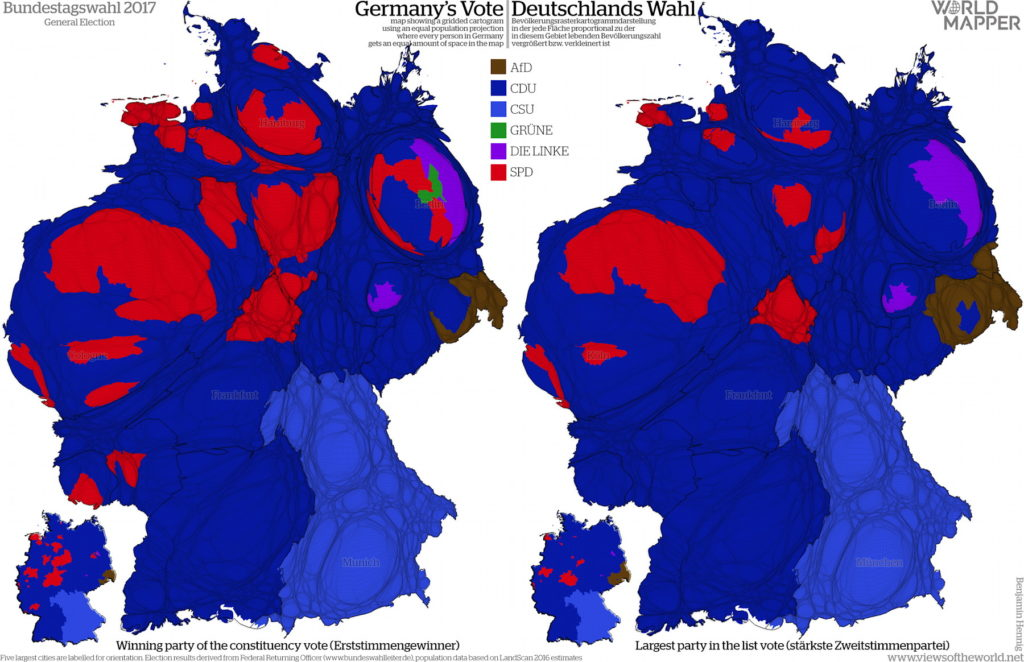 More Maps Of The German Federal Election The Map Room - Germany map 2017