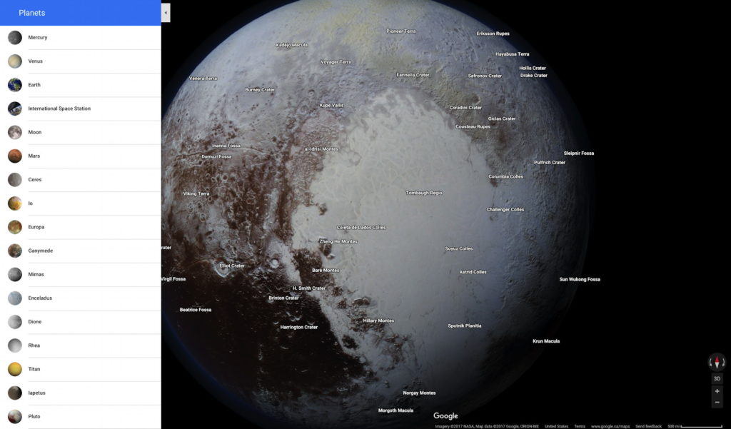 Moons And Planets Added To Google Maps The Map Room