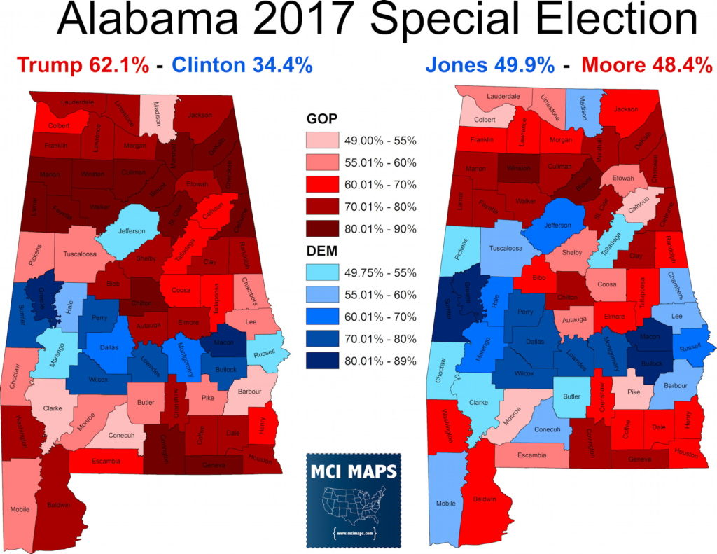 Mapping The Alabama Senate Election Results