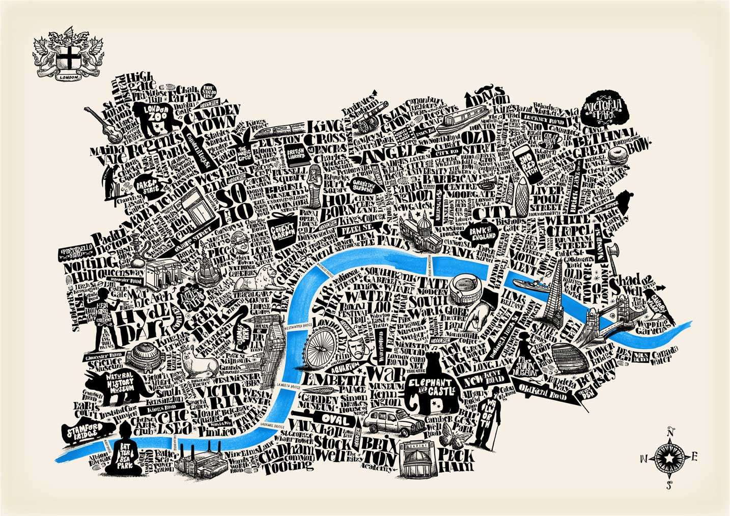 Typographical London The Map Room