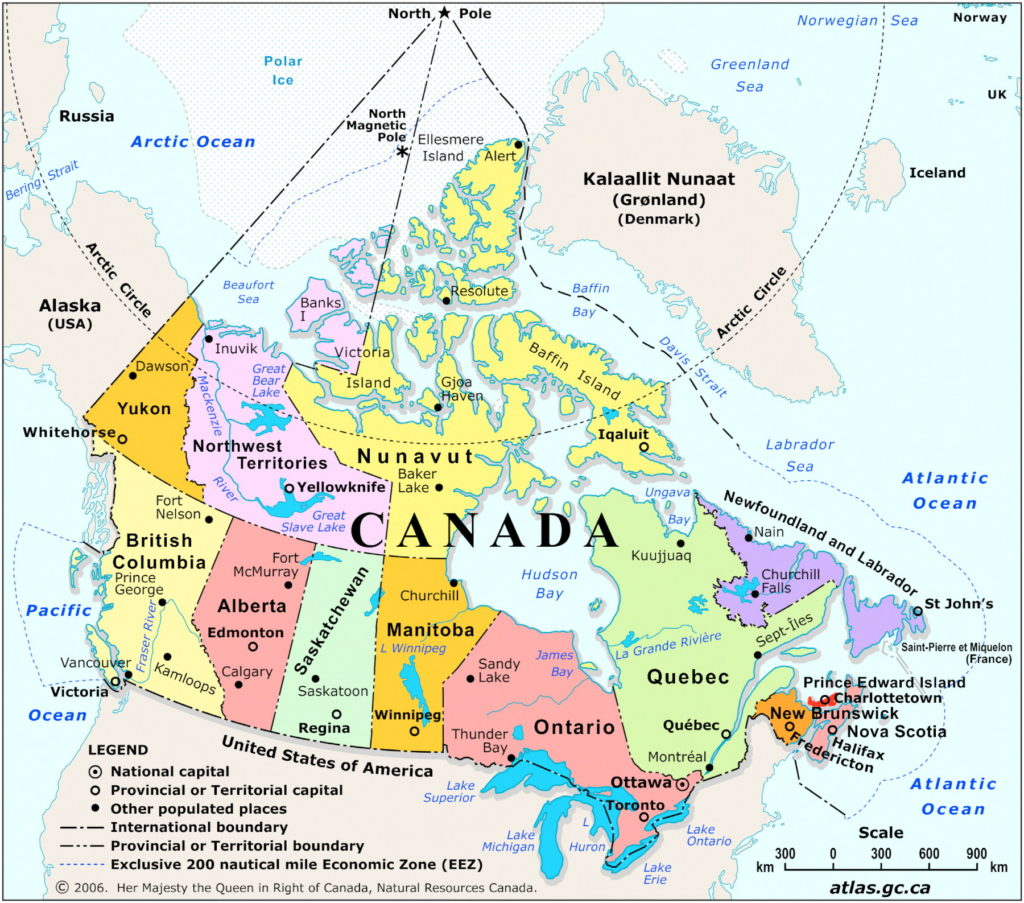 Arctic Ocean Canada Map Canadian Maps Claim the North Pole—Canada Doesn't – The Map Room