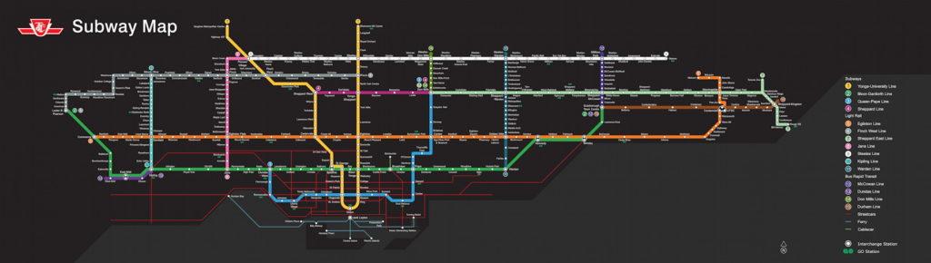 Toronto Transit Map Subway.A Fantasy Ttc Subway Map The Map Room