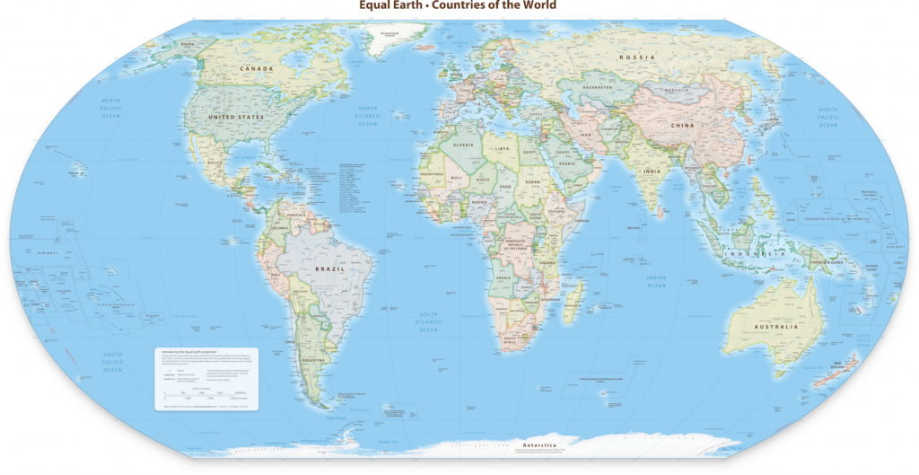 Equal Earth Gets a Wall Map – The Map Room